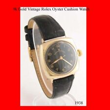 Vintage Rolex Cushion Oyster Mint  9k Gold Watch 1943