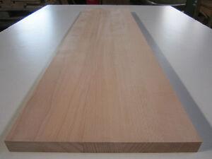 Buchenplatte  Buche 20x400x600mm 4-seitig gehobelt Leimholz massiv Regalbrett