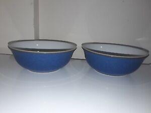 Denby Imperial Blue Cereal / Soup / Dessert Bowls (2)