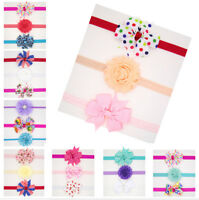 3Pcs Newborn Kids Girls Toddler Flower Headband Baby Headwear LJ