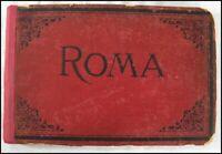 Antique  Roma Rome Italy Photo Album 16 Albumen Photographs Architecture 19th C.