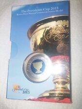 Korea 2015 Golf Presidents Cup Blue Tri-Metal Medal PCGS 68 Commemorative PGA