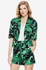Vince Camuto Tropical Leaf Size 10 Green Blazer Jacket