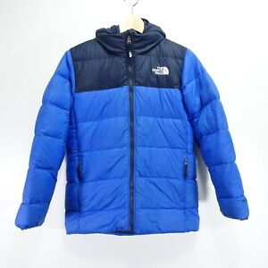 The North Face Boys Triclimate Blue Puffer 550 Down Filled Coat Winter Jacket  L