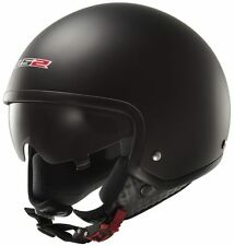 LS2 Helmet - OF561 Wave - Matt Black - Open Face Imported Motorcyle Helmet