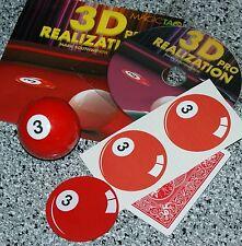 3D Realization Pro-- (red 3-ball) --close-up billiard ball appearance       TMGS