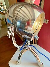 STRAND PATT 123   Vintage Theatre Light With A polished aluminium stand