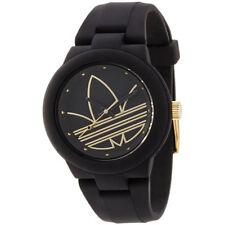 Armbanduhr von Adidas Kuststoff Schwarz Analog Original Damen Geschenkbox