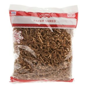 Holiday Time Brown Paper Shred 5oz