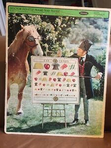 "Vintage Whitman Frame Tray Puzzle 1967 Doctor DoLittle No. 4568 ""Eye Chart"""