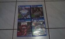 PlayStation 4 Starterpaket Sammlung PS4 VR Spiele Doom RIGs Hours usw.