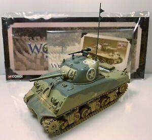 Corgi CC51006 1:50 Diecast M4A3 Sherman Tank, US Army, Sicily, 1943