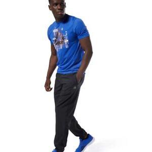cisne Establecer Brillar  Las mejores ofertas en Pantalones Reebok Negro Talla S para Hombre | eBay