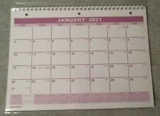 2021 WALL SPIRAL 3-Hole Monthly 11X8 Purple Gregorian 13 Month Calendar Teacher