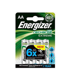 4 PILES ACCUS ENERGIZER RECHARGEABLE AA LR06 1.2V 2300mAh Ni-Mh BATTERY BATTERIE