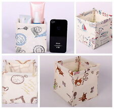 Multi Pattern Available Stackable ECO Friendly Zakka Storage Boxes Linen SNFH001