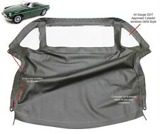 MGB Convertible Top With Zipper 3 Plastic Windows 1971-1980