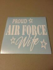 Proud Air Force Wife Vinyl Die Cut Decal,car,truck,window,laptop,military,love