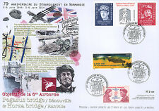 """Maxi FDC """"70 years D-DAY / DE GAULLE & Major HOWARD, 6th Airborne / WWII"""" 2014"""