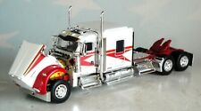 "DCP WHITE RED KENWORTH W900 72""  FLATTOP SLEEPER CAB 1/64 60-0490 C FIRST GEAR"