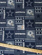 "NFL PRINT COTTON FABRIC - Dallas Cowboys Stars - 45"" WIDTH SOLD BY THE YARD C472"