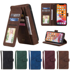 Multi Card Wallet Case Leather Flip Cover for iPhone 12 11 Pro Max XR XS SE 7 8