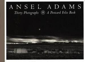 Thirty Photographs : A Postcard Folio Book by Ansel Adams