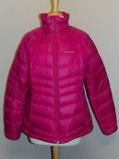 Columbia Womens Omni Heat Turbo Down Puffer Jacket Coat Pink Large NWOT
