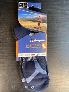 Berghaus Fast Track Mens Cushioned MINI Socks (Ankle Socks) UK 12-14 XL