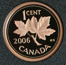 2006 Canada Classic design 1 cent coin in pure bronze -  in proof finish