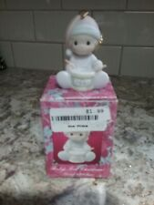 """Precious Moments Ornament """"Baby's First Christmas"""" Dated 1991 Boy with Drum"""