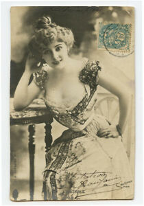 PU 1904 Pretty Young Lady DIETERLE French Theater Music Hall photo postcard