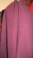 "Coat/Jacket Fabric Remnant - Deep Burgundy - Cashmere/Wool Mix - 62"" W x 68"" L"