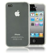 Circle Rubber TPU Gel Soft Case Cover Skin For Apple iPhone 4 4G 4S Clear