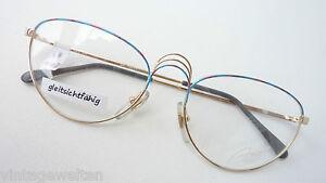 Ausgefallene Brillenfassung große Butterflyform Metall für Frauen NEU Gr. M