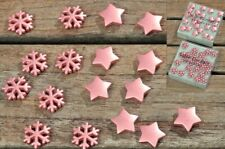 48 Stk Schneeflocken & Sterne kupfer farben Tischdeko Weihnachten Metall XMAS