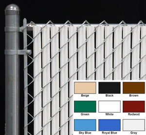 Chain Link Fence Privacy Slat for 4 FT High Fence - Single Wall Bottom Lock Slat
