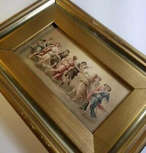 Gilt Frame Apollo Dancing Muses Greek Roman Antique Cupid Ladies Giulio Romano