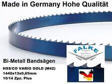 Bandsägeblatt Sägebänder Gold M42 1440 mm x 13  x 0,65 mm 10/14 Bandsägeblätter