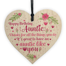 Auntie Gifts For Birthday Shabby Chic Wood Heart Best FRIEND Keepsake Thank You