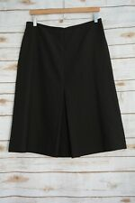 Le Suit Collections - BLACK tiny dot A-line PLEATED rayon blend skirt, size 12
