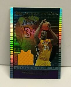 Shaquille O'Neal 2003-04 Topps Jersey Edition HOME COOKIN' Relic card
