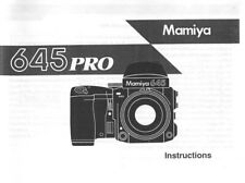 Mamiya 645 Pro Instruction Manual photocopy
