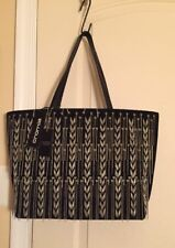CROMIA Made in Italy Chains suede & leather Tote Shoulder Bag  Black NWT