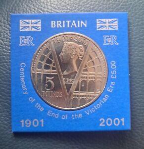 UK £5 Five Pound Coin 1901 - 2001 Victorian Era 100th