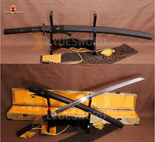 JAPANESE KATANA FULL TANG SAMURAI SWORD FOLDED STEEL CLAY TEMPERED RAZOR SHARP