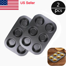 2Pcs 6 Cups Muffin Mold Non-stick Cupcake Pan for Cake Baking Bakeware Molds