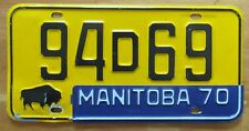 Manitoba 1970 License Plate # 94D69
