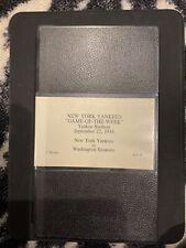 1954 NEW YORK YANKEES VS. WASHINGTON SENATORS GAME OF THE WEEK VHS MANTLE