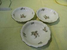 3 Porzellan Schälchen von Johann Haviland / Blumen - Rosenmotive / Geschirr
